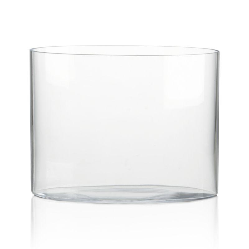 Glass Oval Vase 4x5